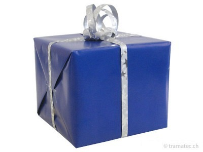 Geschenkverpakung Blau-Silber