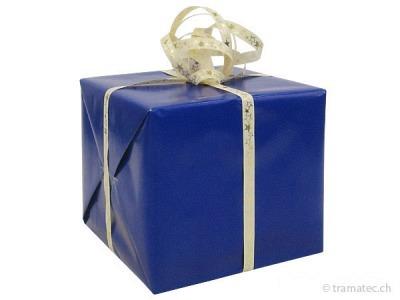 Geschenkverpakung Blau-Gold