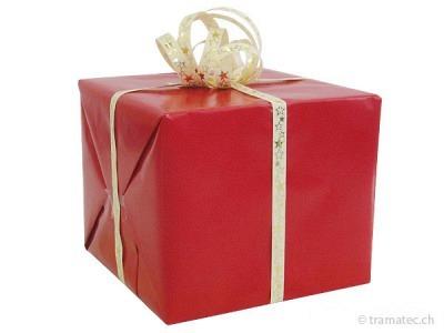 Geschenkverpakung Rot-Gold