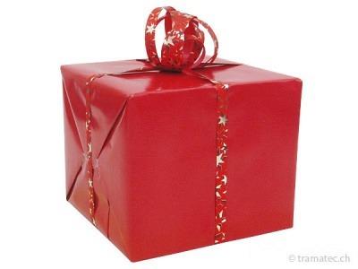 Geschenkverpakung Rot-Rot