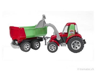 Bruder Traktor mit Frontlader und Kippanhänger ROADMAX - 20116