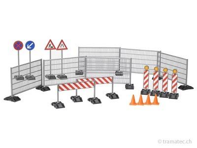 Bruder Baustellenset Zäune, Schilder und Pilonen