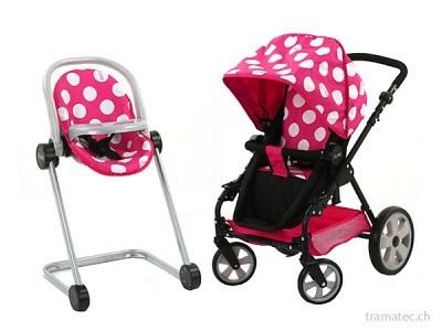 Hauck I'coo Buggy und Hochsitz pink