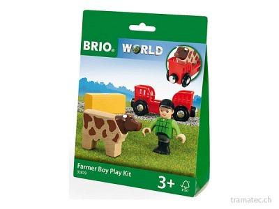 BRIO Spielpäckchen Bauer mit Kuh