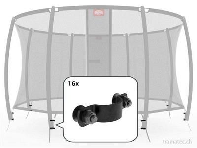 BERG Trampolin Ersatzteil Montageset für 8 Stangen (Deluxenetz)