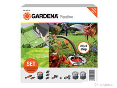 gardena sprinklersystem start set f r garten pipeline sprinklersystem online shop tramatec. Black Bedroom Furniture Sets. Home Design Ideas